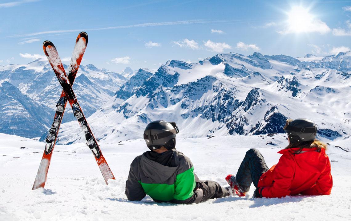 Skigebiete in den Alpen