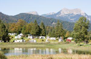 Camping in den Alpen