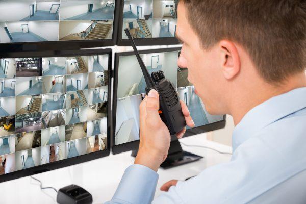 Sicherheitsdienst bei der Arbeit