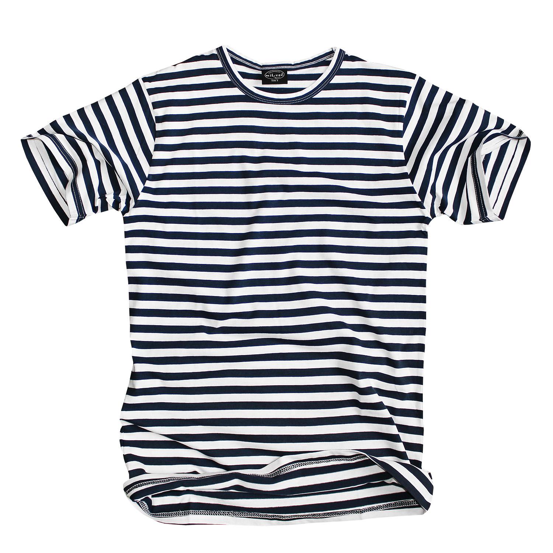 mil tec russ t shirt gestreift blau weiss im bundeswehr und freizeitshop. Black Bedroom Furniture Sets. Home Design Ideas