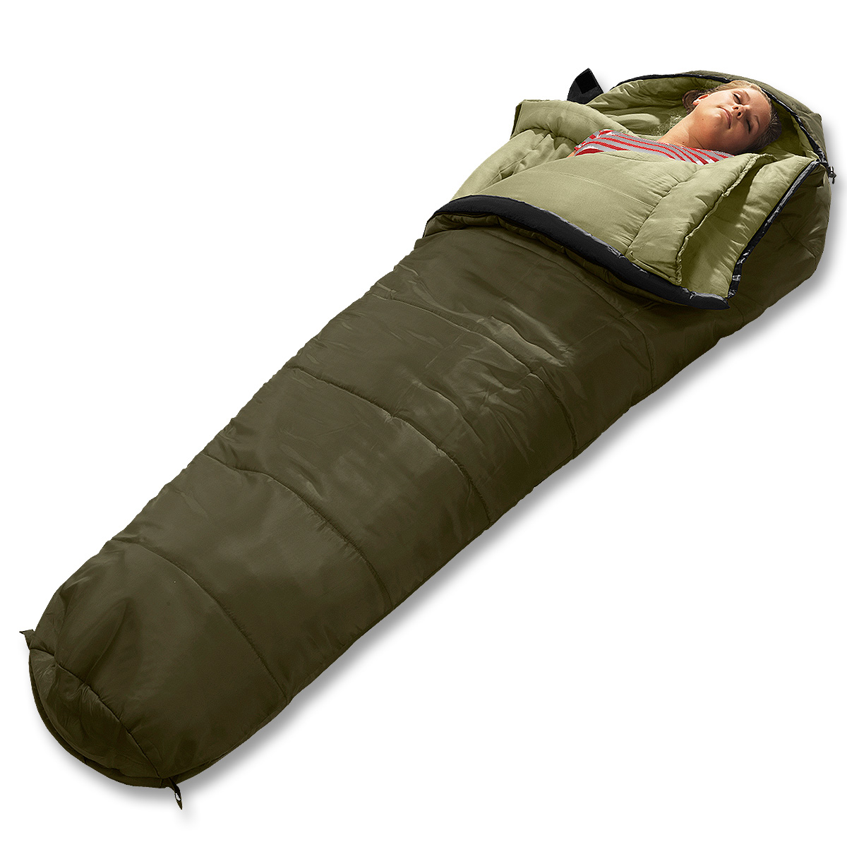 Schlafsack Kansas 195 oliv