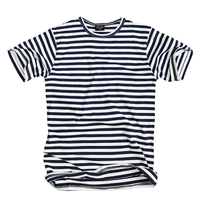 mil tec russ t shirt gestreift blau weiss im bundeswehr. Black Bedroom Furniture Sets. Home Design Ideas