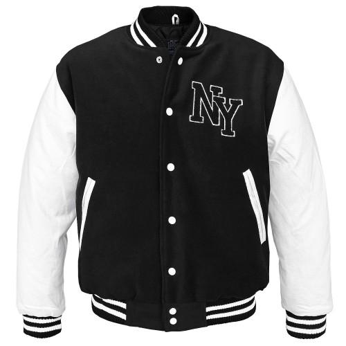 NY Baseball Blouson Jacke - schwarz