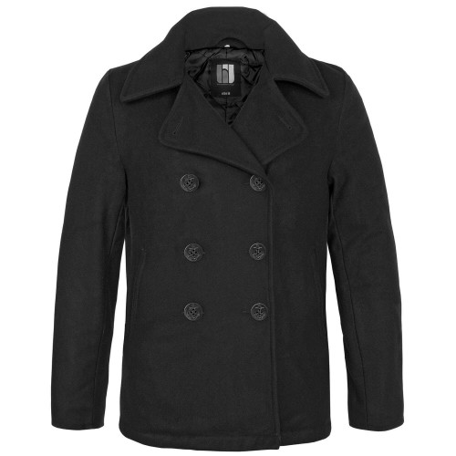 bw-online-shop Navy Pea Coat Mantel