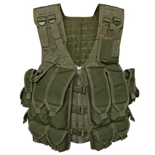 Kampfmittelweste AK74 mit 12 Taschen - oliv