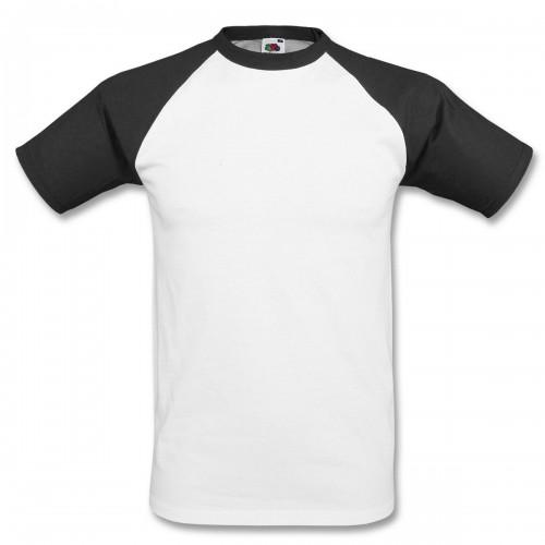 Baseball T-Shirt - weiss/schwarz
