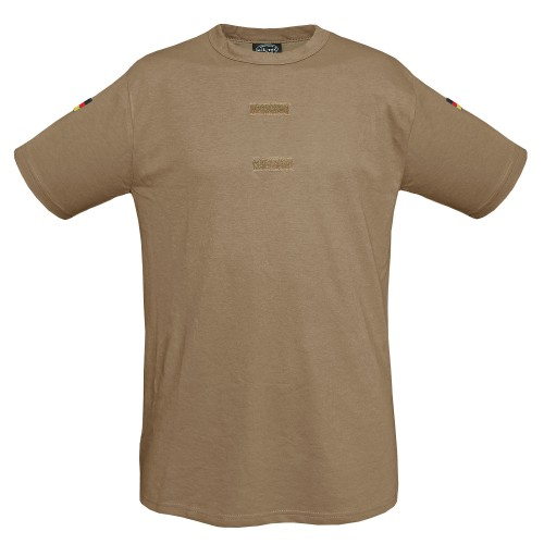 Mil-Tec BW Tropen T-Shirt Import m. Klett u. Nat. Abz. sand