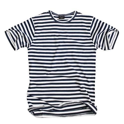 Mil-Tec Russ. T-Shirt gestreift blau/weiss