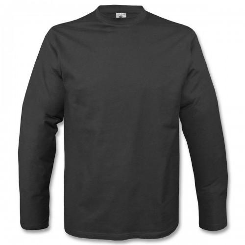 Basic Langarm Shirt - schwarz