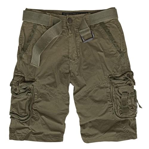 Vintage Survival Shorts Prewash - oliv