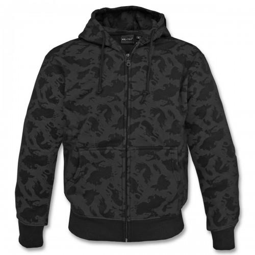 Kapuzen Pullover Zip - blackcamo