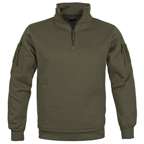 Mil-Tec Tactical Sweatshirt m. Zipper
