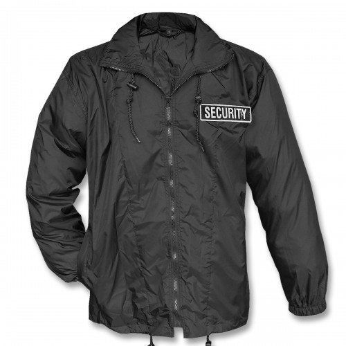 Mil-Tec Security Windbreaker Jacke schwarz
