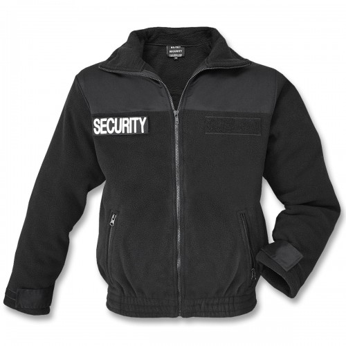 Mil-Tec Security Fleecejacke schwarz