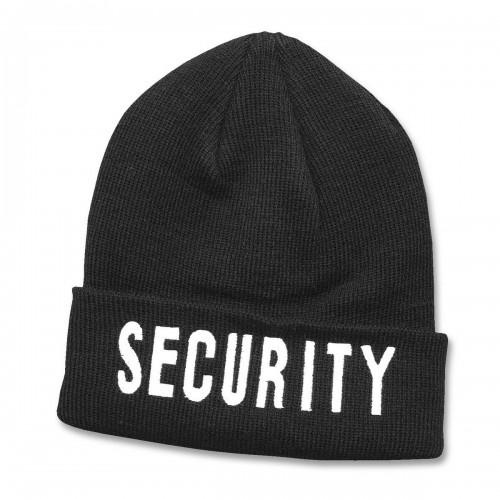 Rollstrickmütze Security schwarz
