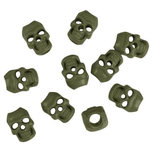 Mil-Tec Kordelstopper Skull 10er Set