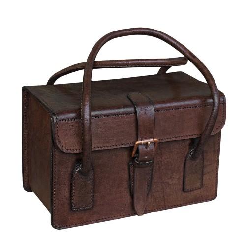 Leder Handtasche braun - braun