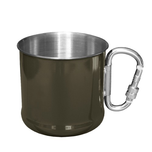Mil-Tec Karabinerbecher Edelstahl 500 ml