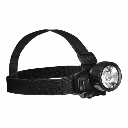 Mil-Tec Kopflampe 3 LED Plus 1 schwarz