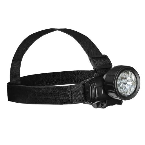 Kopflampe 12 LED schwarz - schwarz