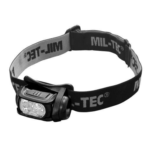 Mil-Tec Kopflampe LED 4-farbig
