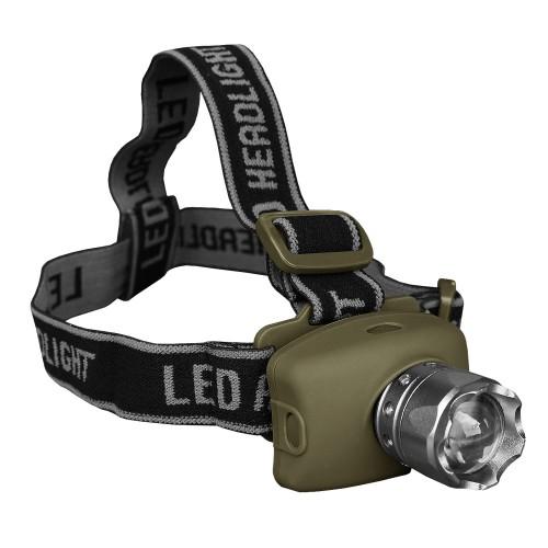 Mil-Tec Kopflampe LED Cree mit Focus