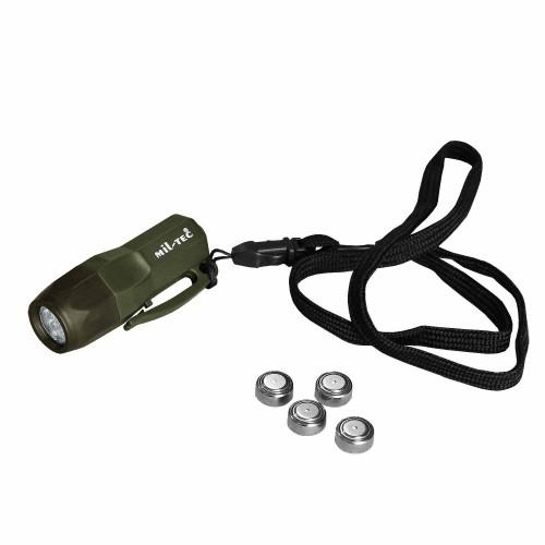 Mini Rescue Lampe 3 LED - oliv