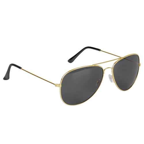 Mil-Tec US Pilotenbrille gold m. Etui