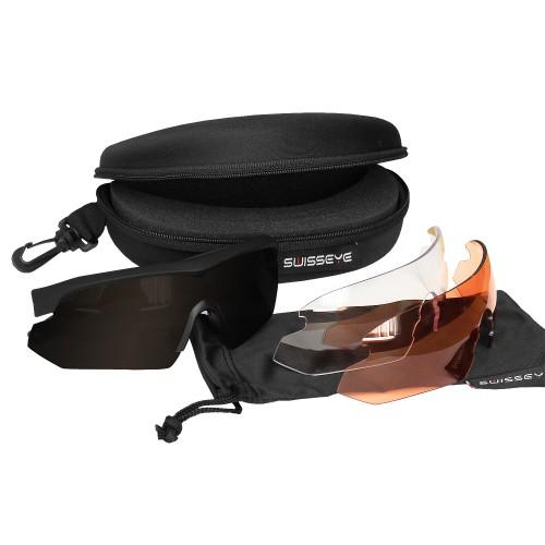 Swiss Eye Tactical Brille Nighthawk m. Wechselgläsern