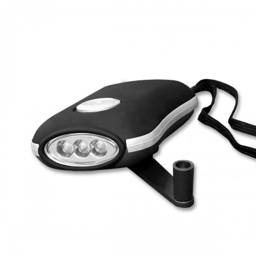 Dynamokurbellampe 3 LED schwarz - schwarz