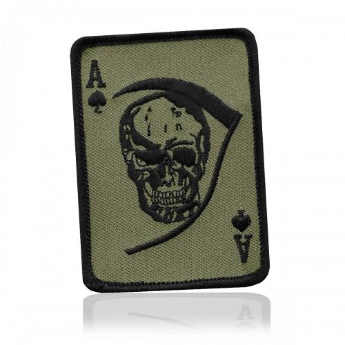 Abzeichen Textil Death Ace oliv