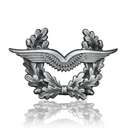 BW Mützenkranz Metall Luftwaffe