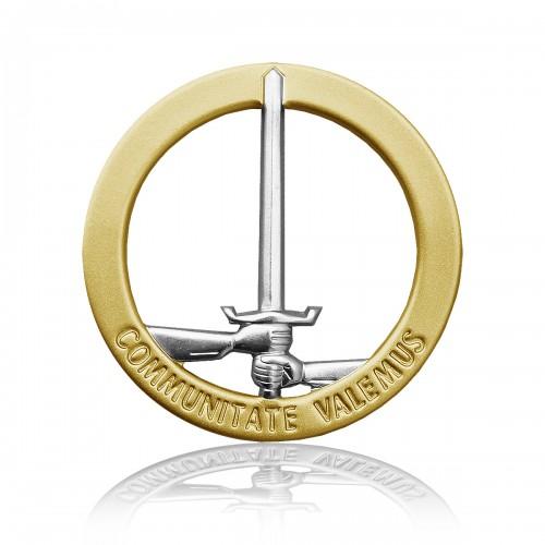 BW Barettabzeichen 1. NL/D-Corps Metall