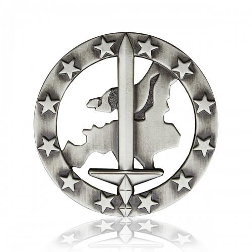 BW Barettabzeichen Eurocorps Metall