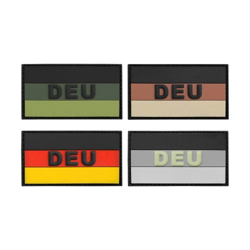 3-D Rubber Patch Flagge DEU klein
