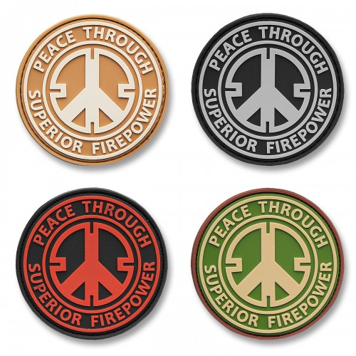 3-D Rubber Patch Peace