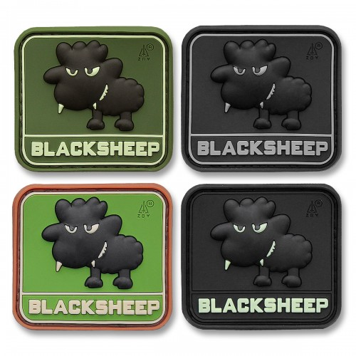 3-D Rubber Patch Little Blacksheep