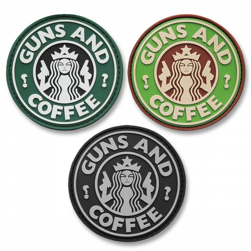 3-D Rubber Patch Guns and Coffee