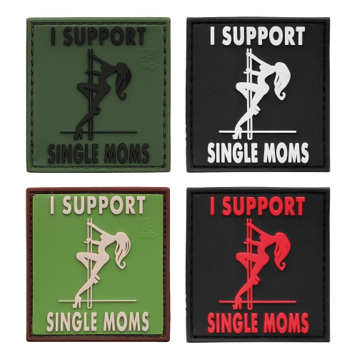 3-D Rubber Patch I support single Moms (Sale)