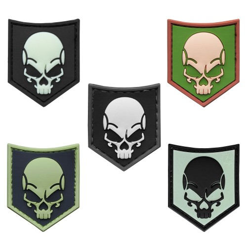 3-D Rubber Patch SOF Skull