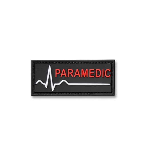 3-D Rubber Patch Paramedic Heartline
