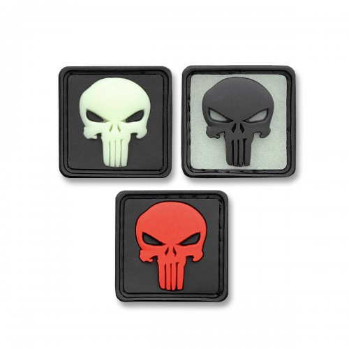 3-D Rubber Patch Punisher Ghost