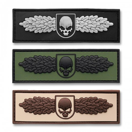 3-D Rubber Patch SOF Skull Badge