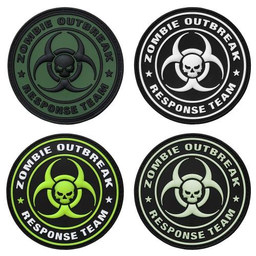 3-D Rubber Patch Zombie Outbreak