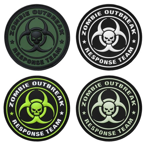 3-D Rubber Patch Zombie Outbreak