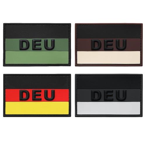 3-D Rubber Patch Flagge DEU groß