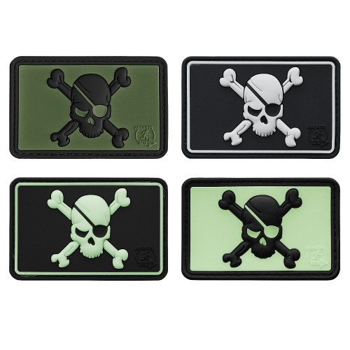 3-D Rubber Patch Pirate Skull