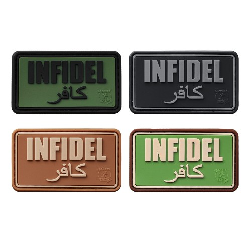 3-D Rubber Patch Infidel