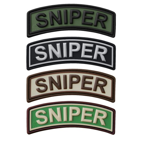 3-D Rubber Patch Sniper Tab (Sale)