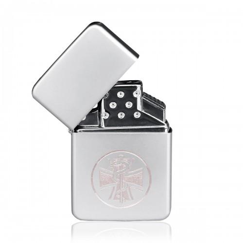 Z-Plus Gas Feuerzeug mit Gravur Sanitätskreuz